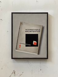 Liu Ye, Book Painting No.30(2020). Internationale Architektur Bauhaus Bücher No.1, Albert Langen Verlag, München, 1925. Courtesy Esther Schipper. Photo: Liu Ye.