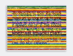 If The Color Changes (#3) by Mel Bochner contemporary artwork painting