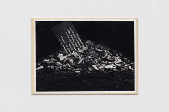 NHS in the Rubble by Peter Kennard contemporary artwork