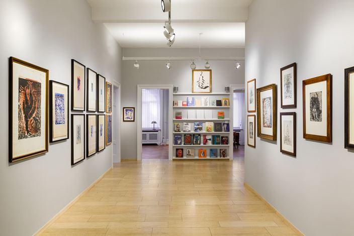 Exhibition view: Georg Baselitz, The World Upside Down: Works by Georg Baselitz 1965–2015, Lévy Gorvy with Rumbler, Zurich (11 September 2020–29 January 2021). © Georg Baselitz. Courtesy Lévy Gorvy. Photo: Niklaus Spoerri.