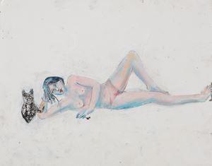 étude pour Délice un peu tendue by Martial Raysse contemporary artwork