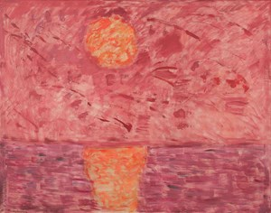 Hot Moon by Milton Avery contemporary artwork