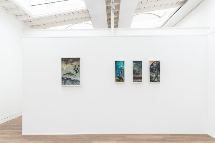 Exhibition view: Group Exhibition, Insights and Outlooks. The lush visual worlds of Wolf Hamm and Hartmut Neumann, Beck & Eggeling International Fine Art, Dusseldorf (29 May–17 July 2021). Courtesy Beck & Eggeling International Fine Art.
