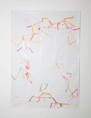 kartographierte stille by Myriam Holme contemporary artwork painting