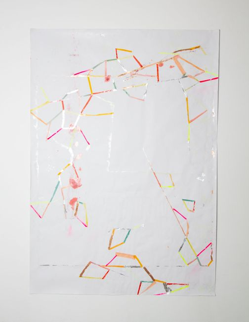 kartographierte stille by Myriam Holme contemporary artwork