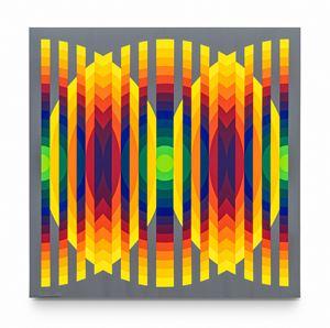 Série 14 – 2 Cercles fractionnés by Julio Le Parc contemporary artwork