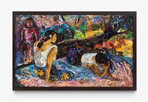 Repro: Glyptoteket (Reclining Tahitian Women, Gauguin) by Vik Muniz contemporary artwork