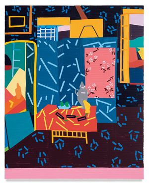 Still Life with Aubergines (after Matisse) by Guy Yanai contemporary artwork