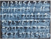 Counting by Mel Bochner contemporary artwork painting