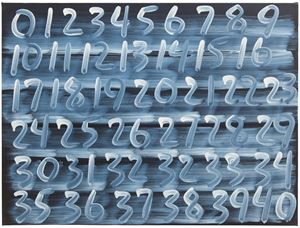 Counting by Mel Bochner contemporary artwork