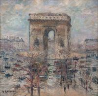 Place de l'Etoile by Gustave Loiseau contemporary artwork painting, works on paper