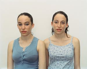 Chen and Efrat, Herzliya, Israel, March 4, 2002 by Rineke Dijkstra contemporary artwork