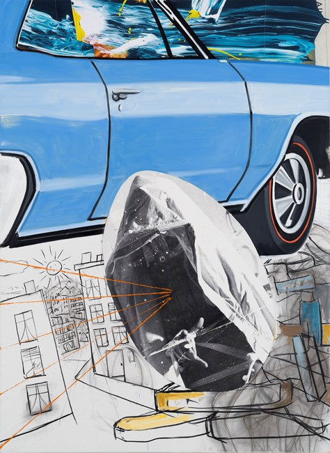 Buick-Town by David Salle contemporary artwork