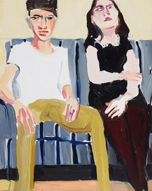 Fraser and Esme by Chantal Joffe contemporary artwork