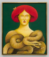 Portrait with Snakes by Nicolas Party contemporary artwork drawing