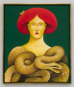 Portrait with Snakes by Nicolas Party contemporary artwork