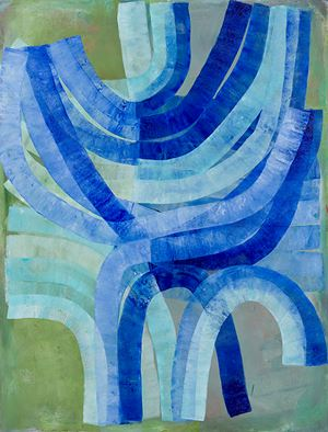 Hanukkah by Ildiko Kovacs contemporary artwork