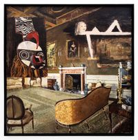 Interior with Mask by Simon Stone contemporary artwork painting