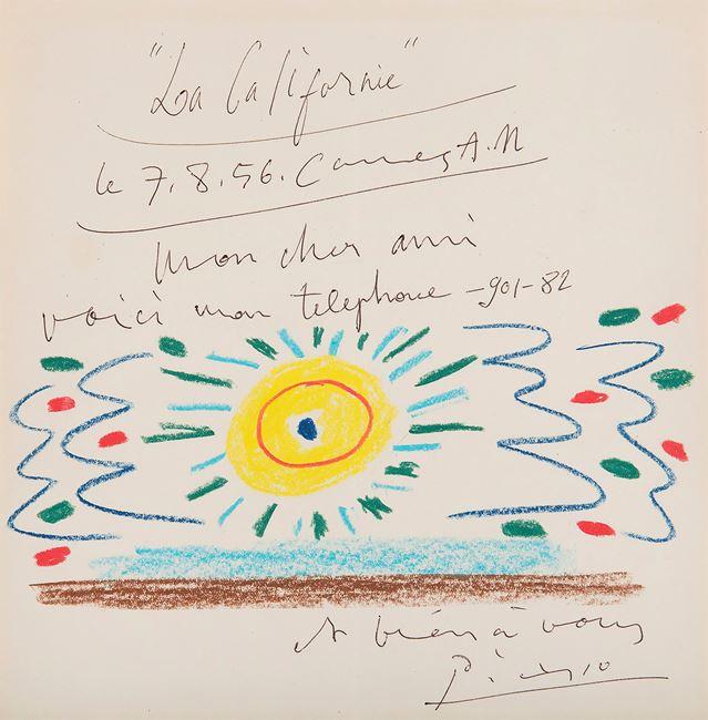 Soleil de Méditerranée by Pablo Picasso contemporary artwork