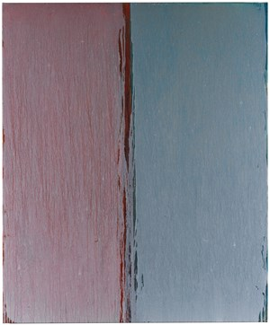 Red, White, Green, Blue and Gold by Pat Steir contemporary artwork