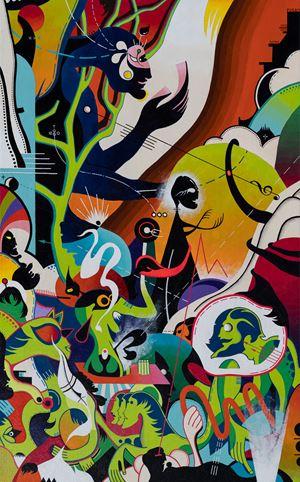 Joys on the Beach by Nisky Yu contemporary artwork
