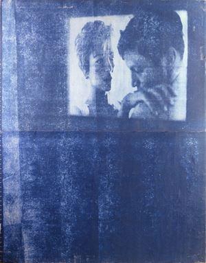 Lo schermo by Mimmo Rotella contemporary artwork