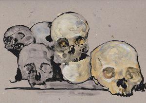 untitled (Study on: Es herscht wieder Frieden im Land) by Wolf Hamm contemporary artwork