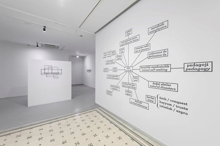 Exhibition view: Memed Erdener, Utopian Bureaucratic, Zilberman Gallery, Istanbul (5 February–24 March 2021). Courtesy Zillberman Gallery.