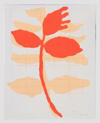 Rote Blume by Ulrike Müller contemporary artwork print