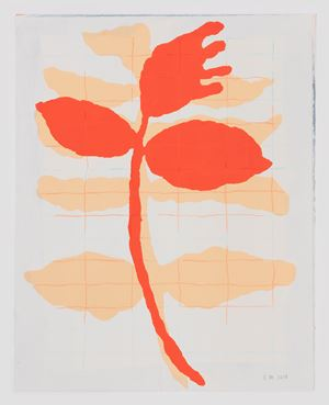 Rote Blume by Ulrike Müller contemporary artwork