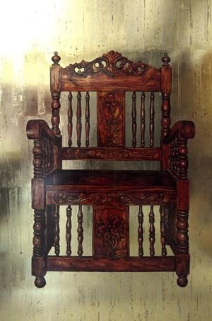 Empty Throne by Anton Del Castillo contemporary artwork
