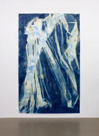 Vorhang Blau 16 by Ulla Von Brandenburg contemporary artwork works on paper