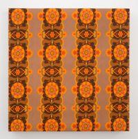 Floral Poles by Julian Dashper contemporary artwork textile