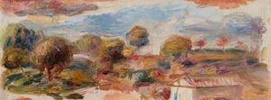 Paysage du midi, fragment by Pierre-Auguste Renoir contemporary artwork