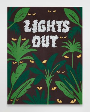 Untitled (Lights Out) by Joel Mesler contemporary artwork