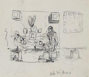 Galatée en formation (recto) / La Cène (verso) by Salvador Dalí contemporary artwork
