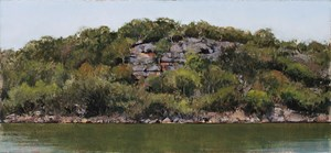 Grey Day, Hawkesbury River by A.J. Taylor contemporary artwork