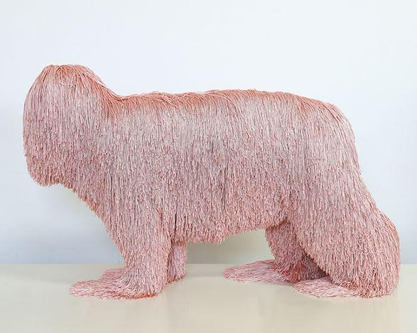 Troy Emery, sleepy hunter (2019). Polyester, polyurethane, adhesive, pins, 44 x 74 x 25 cm. Courtesy Martin Browne Contemporary.