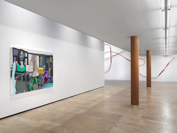 Exhibition view: Group Exhibition, Infinite Games… 2, Capitain Petzel, Berlin, (26 February–17 April 2021). © the artists. Courtesy Capitain Petzel, Berlin. Photo: Jens Ziehe.
