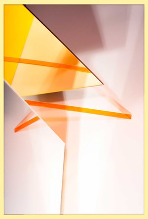 Yellow Mirror Slide by Lydia Wegner contemporary artwork