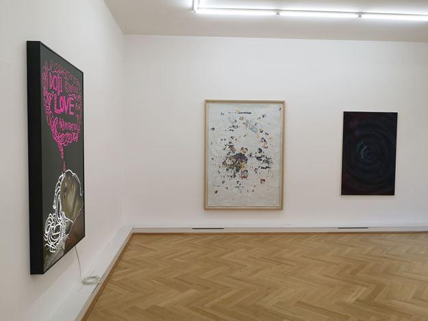 Exhibition view: Group Exhibition, Silver Lining, Bernhard Knaus Fine Art, Frankfurt (30 May–18 July 2020). Courtesy Bernhard Knaus Fine Art.