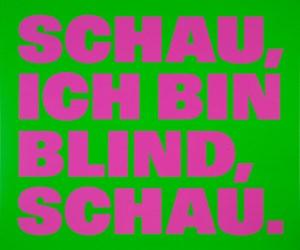 Über die Blindheit 12 by Rémy Zaugg contemporary artwork