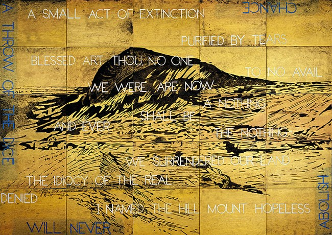 I Named the Hill Mount Hopeless by Imants Tillers contemporary artwork