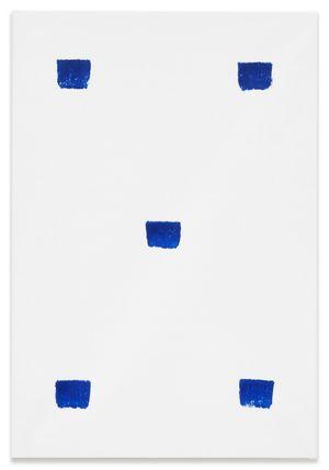 Empreintes de pinceau N°50 à intervalles réguliers de 30 cm by Niele Toroni contemporary artwork painting