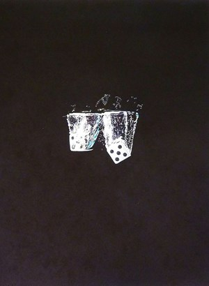 Two Dice Falling by Jackson Slattery contemporary artwork