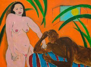 Woman with a Man by Gabriel Buttigieg contemporary artwork