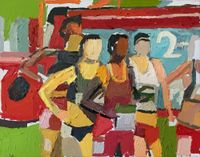 Olympic Series Runners #3 by Clintel Steed contemporary artwork painting