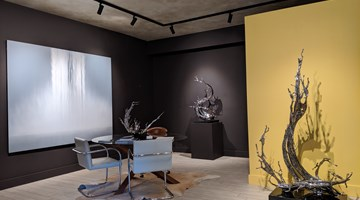 Contemporary art exhibition, Zheng Lu, Hiroshi Senju, Coursing Water at Sundaram Tagore Gallery, Madison Avenue, New York