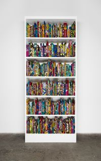 The African Library Collection: Writers by Yinka Shonibare CBE (RA) contemporary artwork sculpture