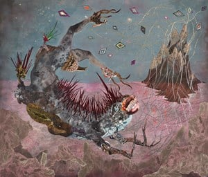 The Screamer Island Dreamer by Wangechi Mutu contemporary artwork